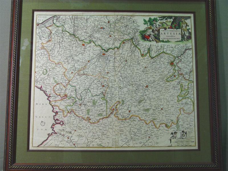 Карта «Tabula Comitatvs Artesiae emendata A.Frederico deWit»