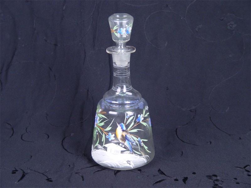 Графин снадписью «Прошу пить», стекло, роспись красками. Россия, начало XXвека, высота— 23,5см