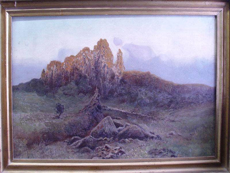 Неизвестный художник, «Рассвет вгорах», холст, масло, начало XXвека, размер: 58×92см