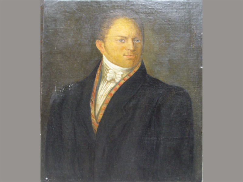 Неизвестный художник, «Портрет неизвестного мужчины», холст, масло, XIXвек, размер: 72,3×61см