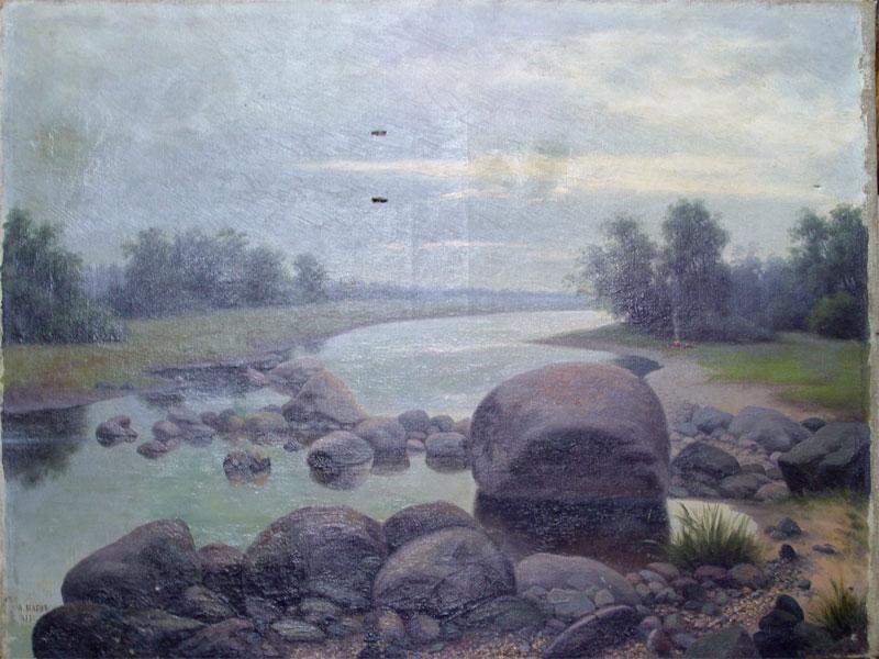 А.П.Баев, «Нареке Сухонь», холст, масло, 1913год, размер: 60×76см.