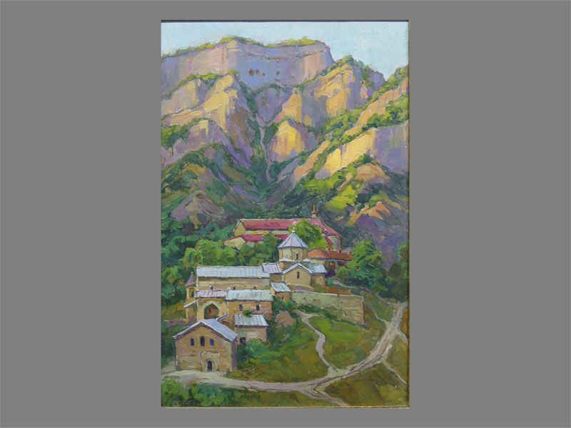 В.Отрешков, «Монастырь вгорах», картон, масло, 1978год, размер: 59×38,5см