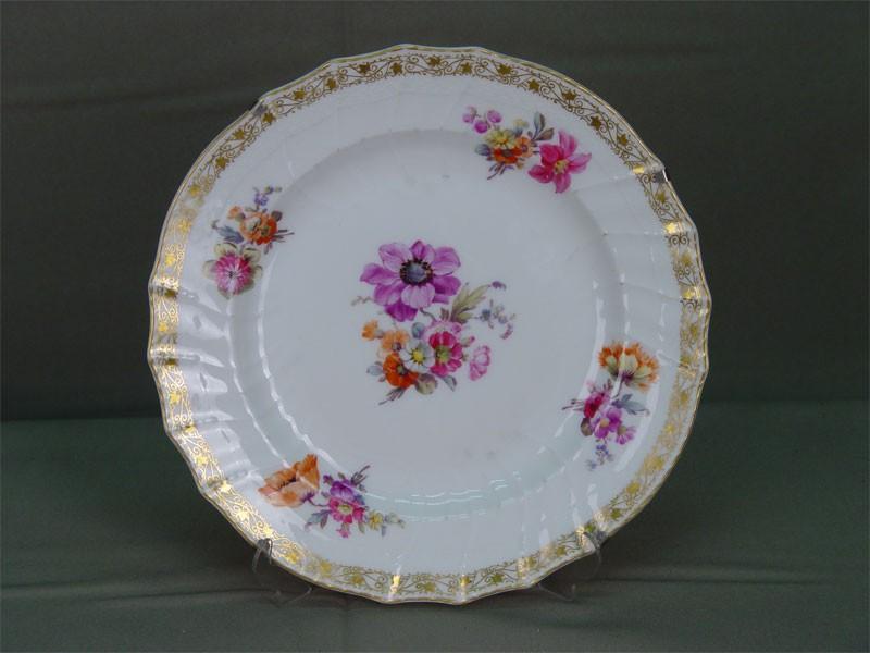 Тарелка настенная, фарфор, роспись надглазурная. Германия, KPM, конец XIXвека, диаметр— 23см