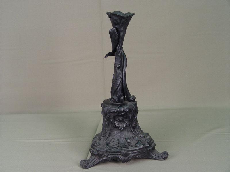 Подсвечник, чугун, литье, покраска. Касли, 1880год, высота— 32см