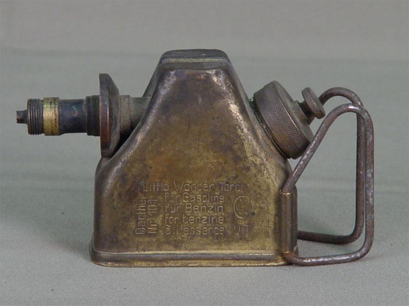 Паяльная лампа «Little Wonder Torch», латунь. Западная Европа, начало XXвека, высота— 7см