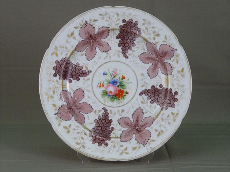 Тарелка, фарфор, роспись надглазурная. Императорский фарфоровый з-д, 1912г, марка «Николай II», диаметр— 27см