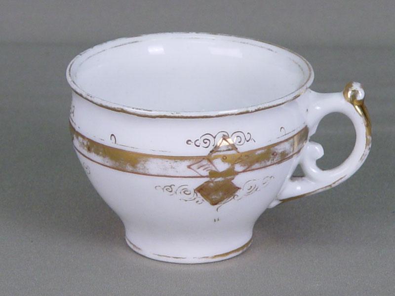Чашка, фарфор, роспись надглазурная. Ф-ка Я.Г. Храпунова-Новаго, XIXв.