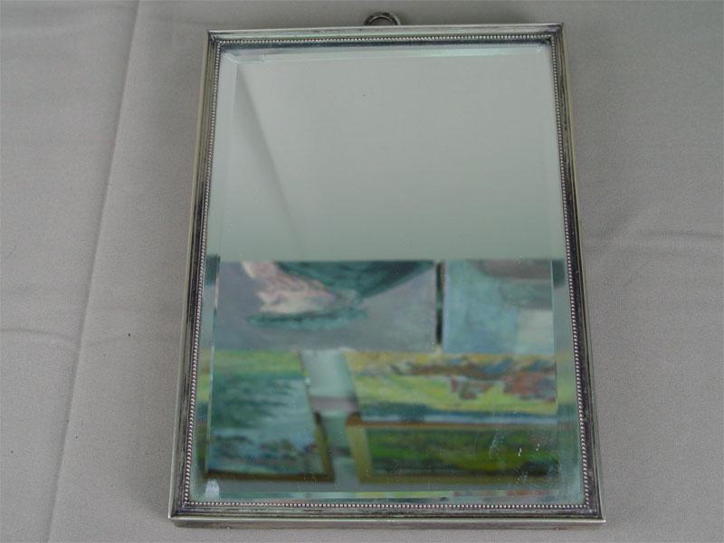Антиквариат. Зеркало настенное и настольное, металл, серебрение