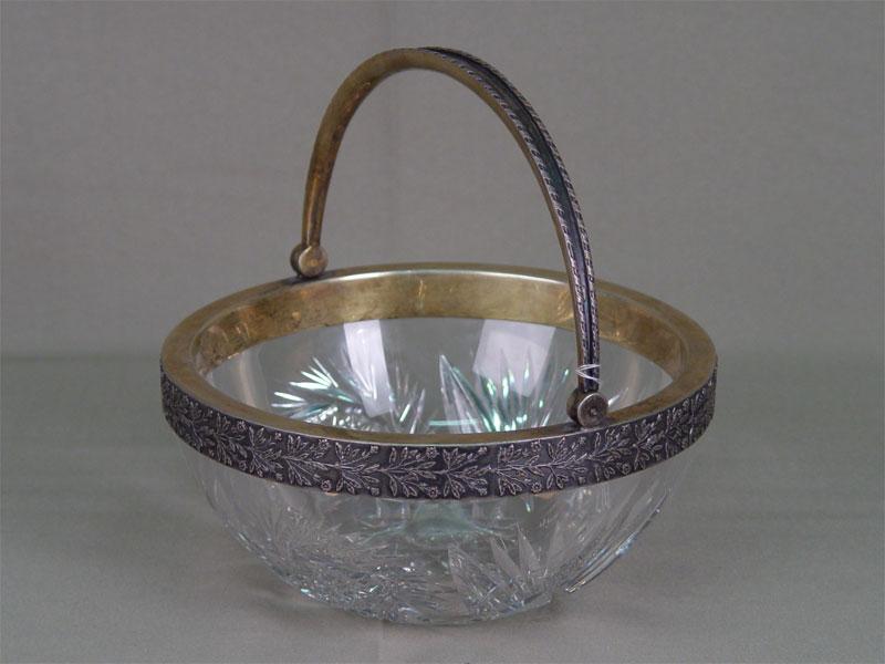 Антиквариат. антикварная ваза, конфетница, хрусталь, серебро, 19 век, 20 век, россия, сервировка, посуда
