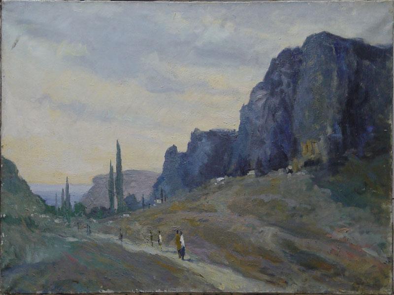 В.А.Фербер, «Большой каньон вКрыму», холст, масло, 1960-егг, размер: 70×120см