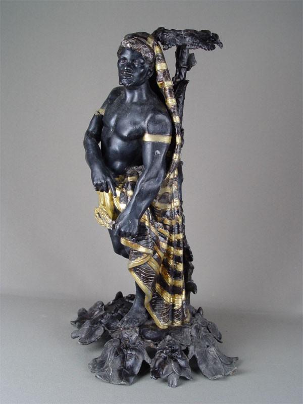 Антиквариат. Основание для вазы или подсвечника, шпиатр, покраска