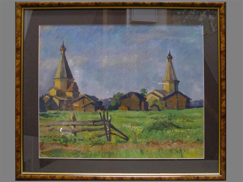Антиквариат. Р.Знамеровский, «Две деревянные церкви»