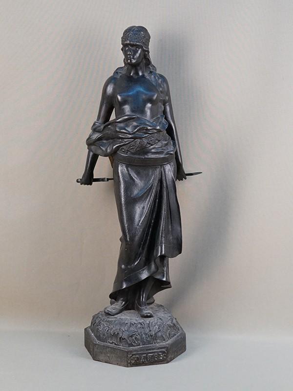 Скульптура «Юдифь», чугун, литье, чеканка, покраска. Касли, начало XXвека, высота— 59,5см