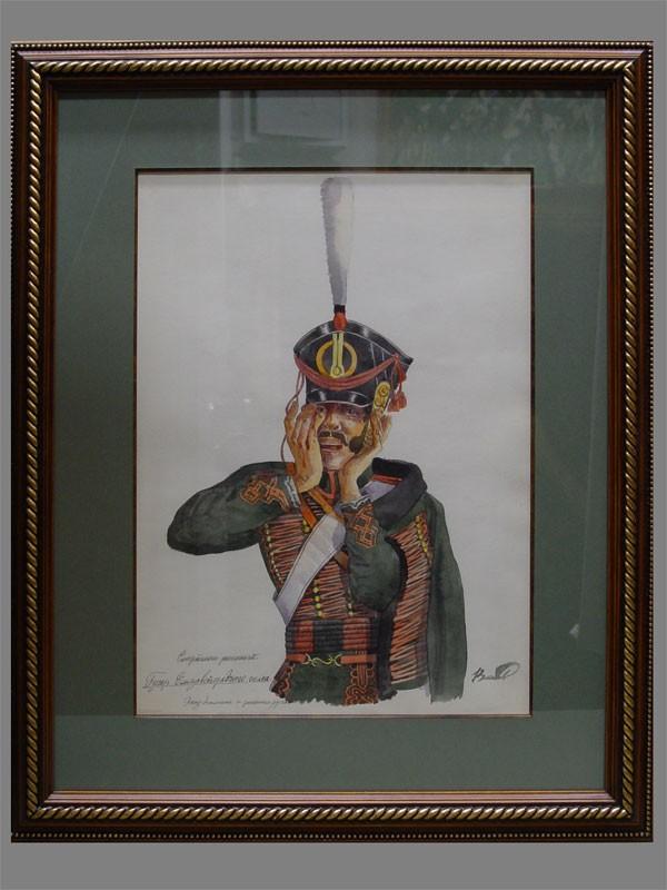 Власов, «Смертельно раненный», бумага, акварель, 1948г, 39×28см