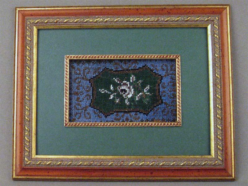 Фрагмент бисерной вышивки врамке, 17×22см (рама)