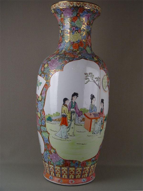 Ваза, фарфор, роспись надглазурная. Япония, середина XXвека, высота— 62см