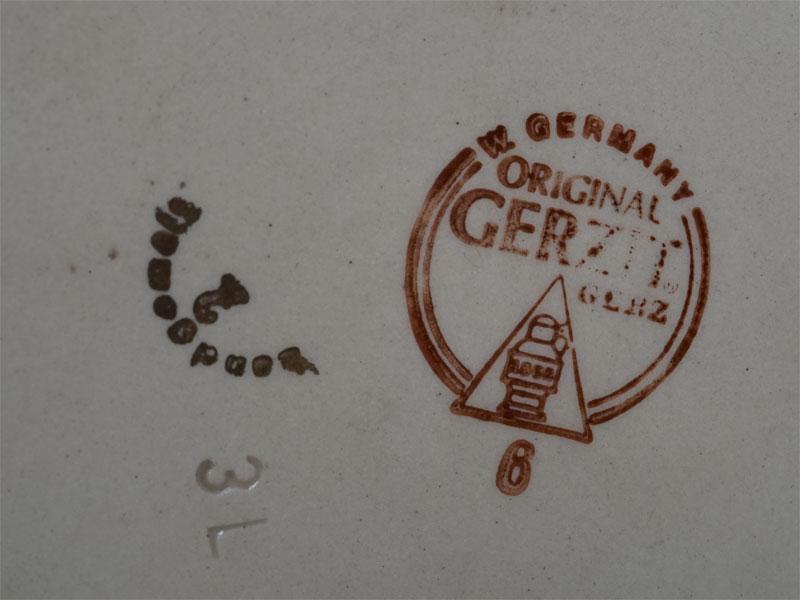 Кружка пивная, фаянс, олово. Германия, середина XXвека, высота— 50см