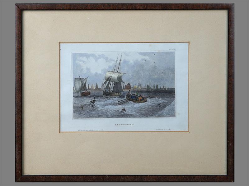 «Астрахань», бумага, гравюра. Западная Европа, XIXвек, 13,5х 18,5см (в окне)