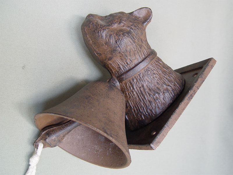 Дверной колокольчик «Кошка», чугун, литье. Западная Европа, XIX век, высота 18см