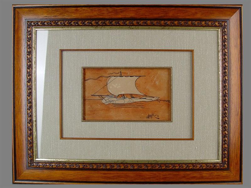 В.Мощевитин, «Арго», акварель, бумага, размер: 13×13,5см