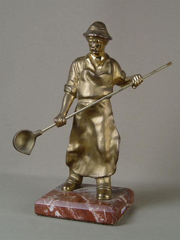 «Сталевар», бронза, литье, подставка камень, высота— 28см