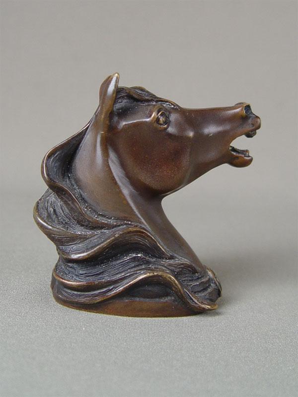 «Голова лошади», бронза, литье, патинирование, высота— 7,5см