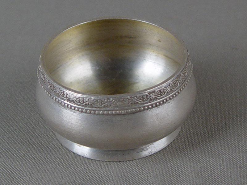 Солонка, серебро 875пробы, общий вес— 37,8г, диаметр— 5см