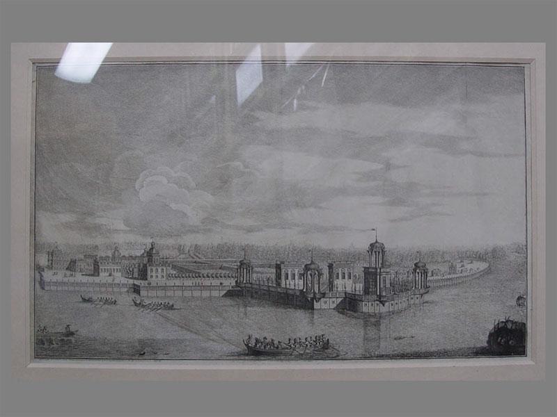 «Санкт-Петербург. Нева напротив Исакиевского собора», бумага, гравюра, 51×69см (в окне), XIXв.