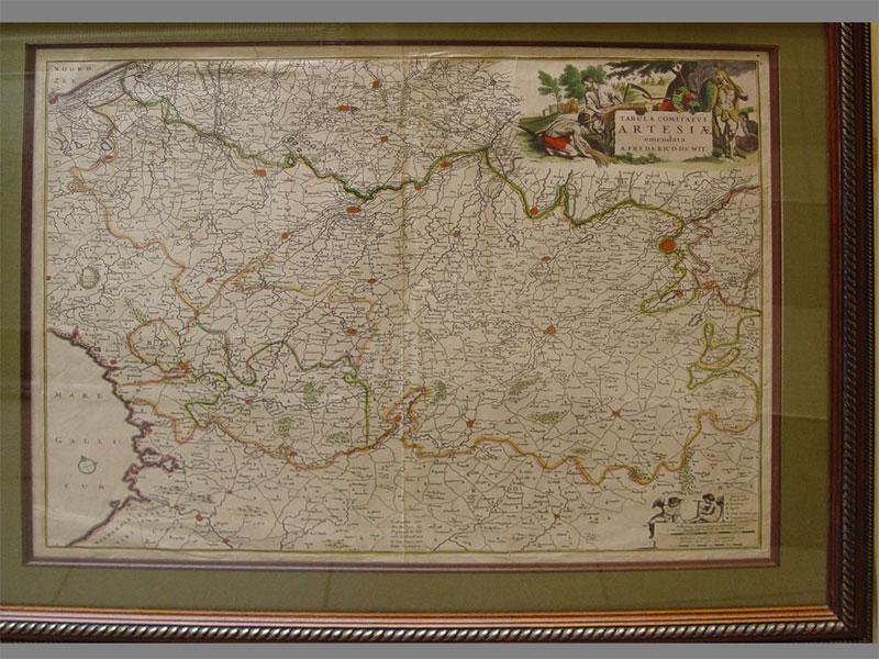 Антиквариат. бумага, гравюра, карта, artesia, tabula, 19 век