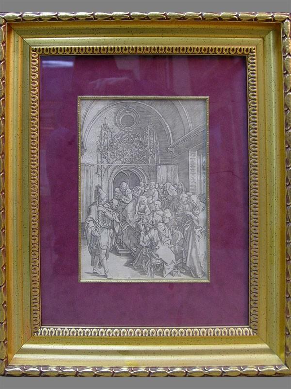 «Обрезание», бумага, гравюра, 29×20,5см (в окне)