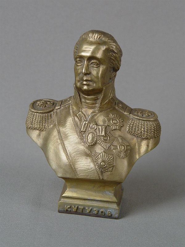 Бюст «М.И.Кутузов», бронза, литье, высота— 13,5см