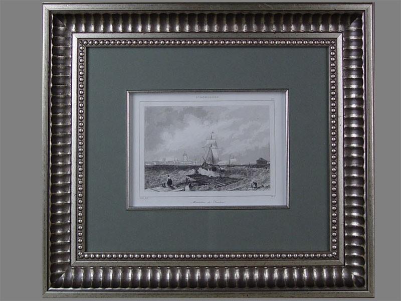 «Санкт-Петербург. Смольный монастырь», бумага, гравюра, XIXв., 12×17см (в окне)