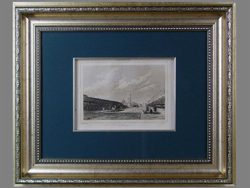 «Санкт-Петербург. Невский проспект», бумага, гравюра, XIXв., 12×17см (в окне)