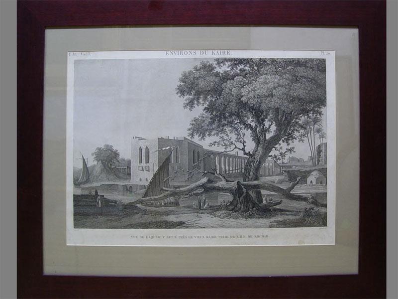 «Окрестности Каира», бумага, гравюра, XIXв., 40×59см