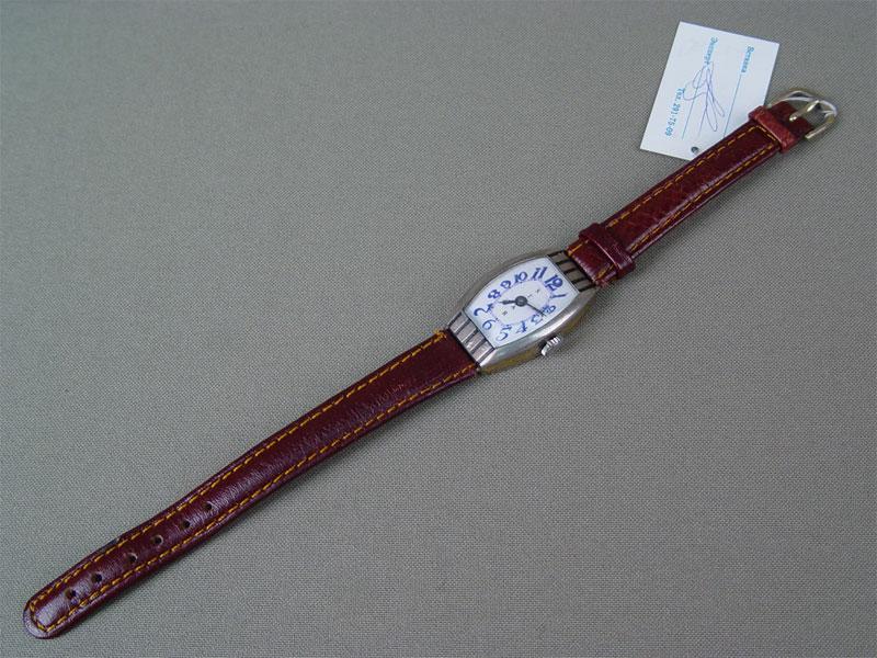 Часы наручные дамские сбраслетом, серебро 875пробы