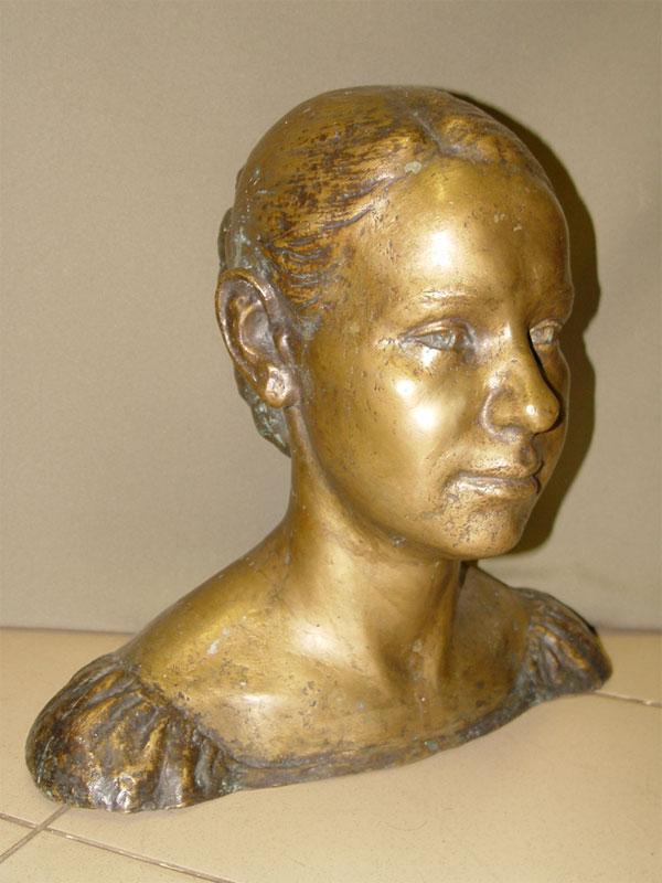 Скульптура «Анна Павлова», бронза, литье, патинирование, высота— 37,5см