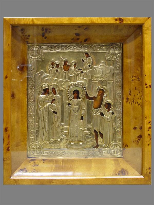 «Покров Пресвятой Богородицы», оклад серебро 84пробы, золочение, 27×22см, вкиоте