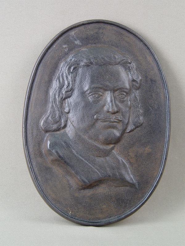 Барельеф «Петр Первый», чугун, литье, покраска, размер: 25×18см