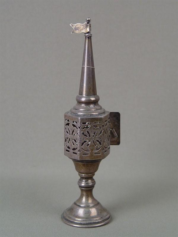 Ароматница, серебро пореактиву, общий вес— 72,9г, высота— 19см