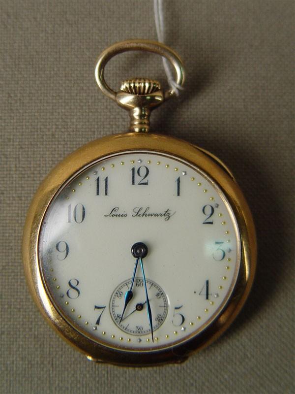 Часы дамские карманные, золото 56пробы, общий вес— 23,4г, диаметр— 3,2см