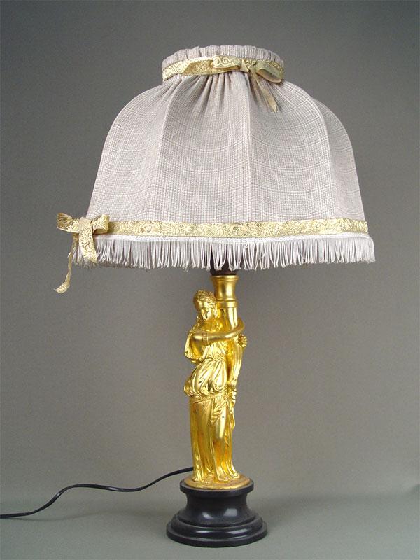 Лампа настольная, бронза, золочение, высота— 62см