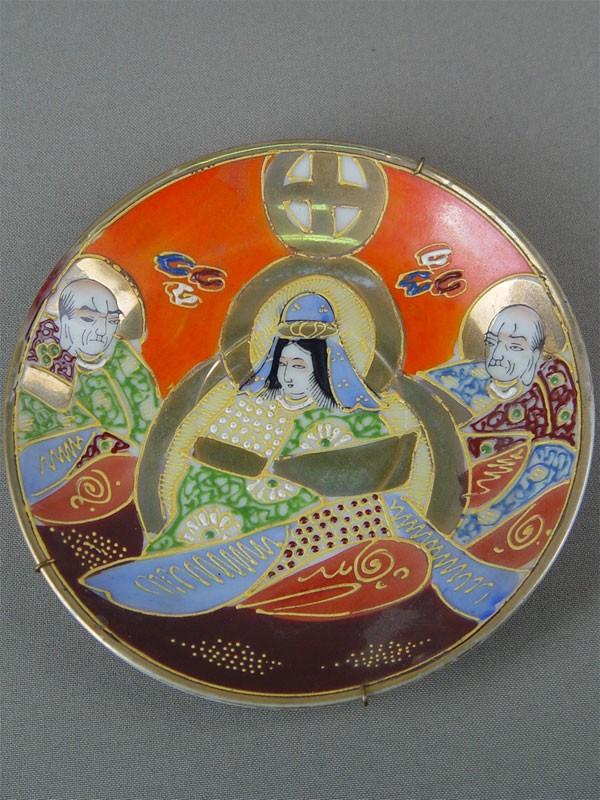 Блюдце, фарфор, роспись надглазурная. Япония, 1940-е гг.