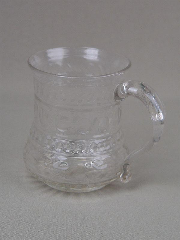Кружка, стекло, XIXв., высота— 9,5см