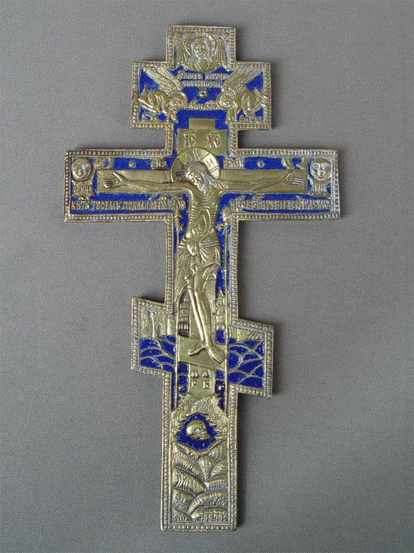 Антиквариат. Крест, литье, эмаль