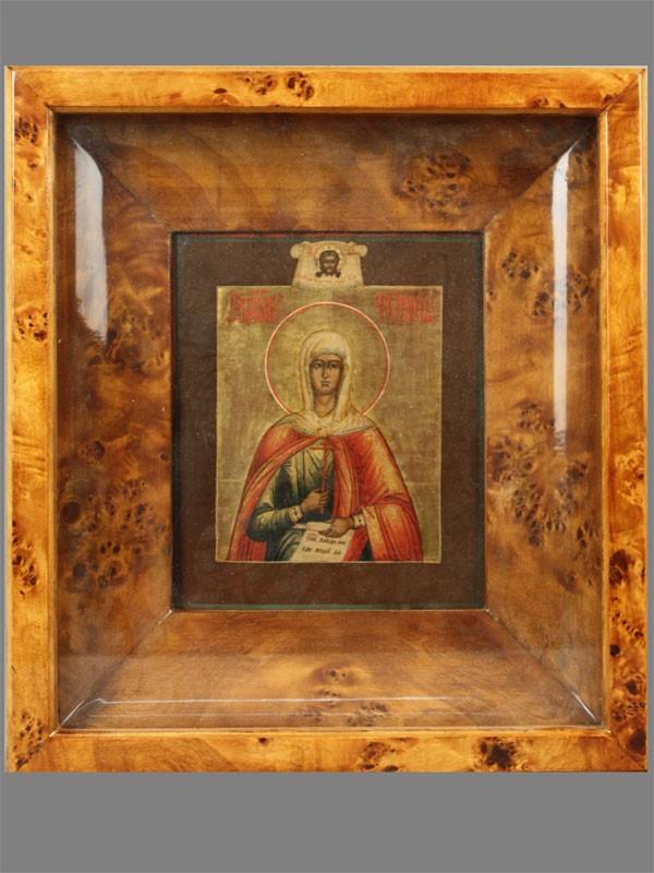 Икона вкиоте «Святая мученица Фотина (Светлана)», дерево, левкас, темпера, позолота, размер иконы: 18×15см