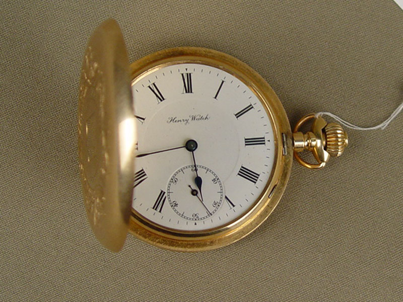 Часы карманные, золото 56пробы, общий вес— 97,7г