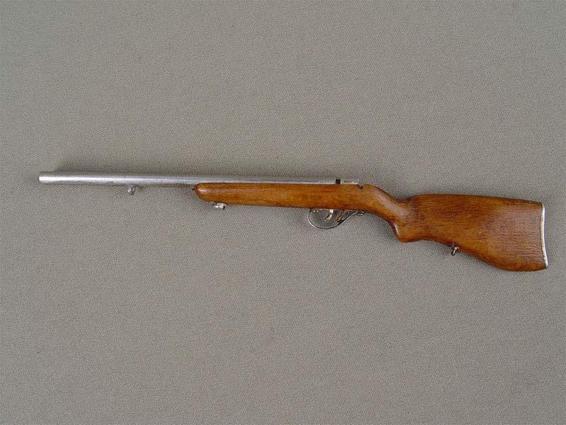 Макет охотничьего ружья, дерево, металл, середина XXвека, длина— 17см