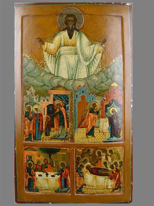 Икона «Господь Вседержитель», дерево, левкас, темпера, 65×38см