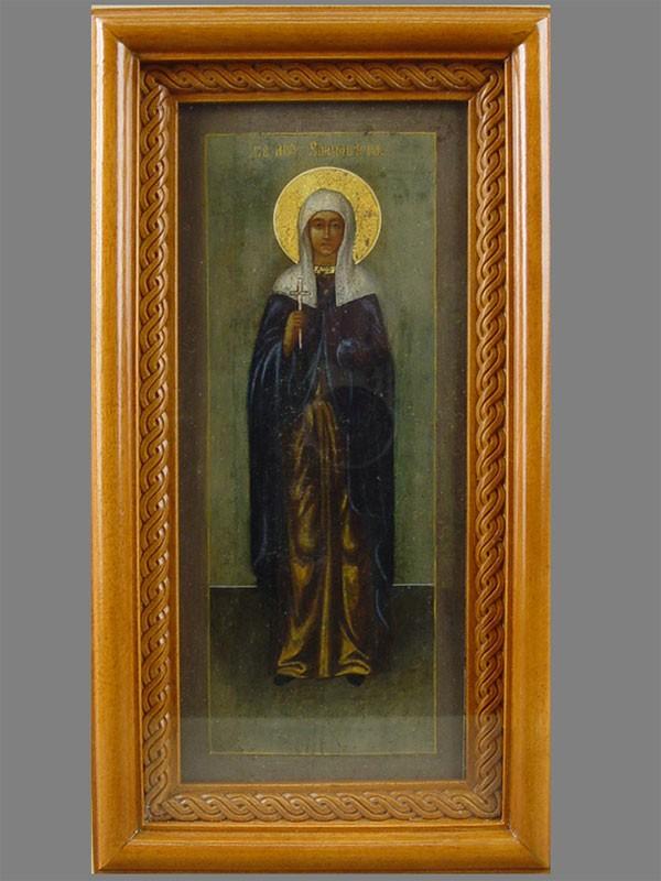Икона вкиоте «Святая Елизавета», дерево, левкас, темпера, размер: 27×11см