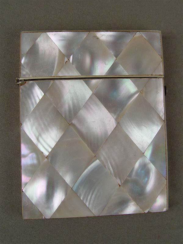 Футляр длявизитных карточек, перламутр, 10×8см